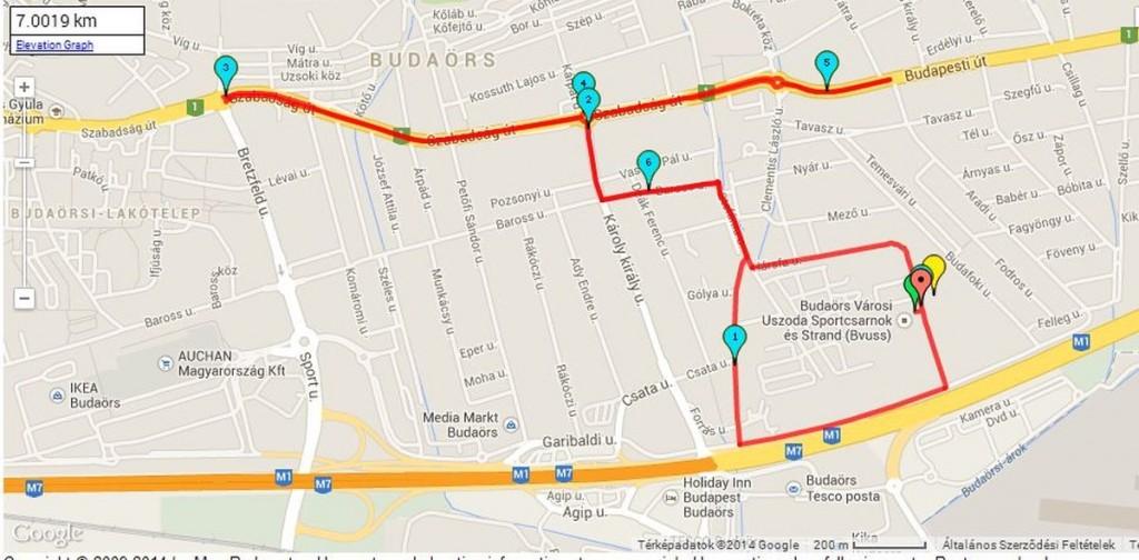 Volkswagen Budaörs Félmaraton 2014 útvonal - Volkswagen Budaörs Félmaraton Futófesztivál